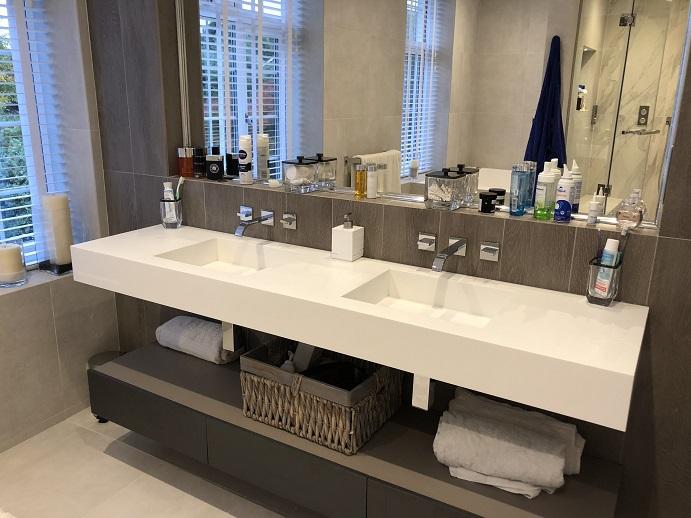 Beykoz Corian Banyo Tezgahı