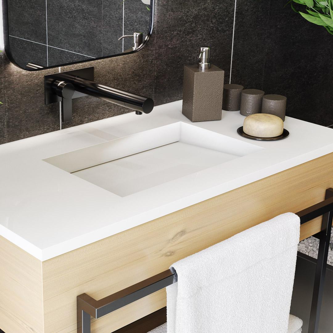 Esenyurt Corian Banyo Tezgahı
