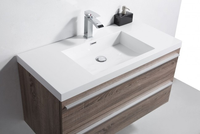 Cevizli Corian Banyo Tezgahı